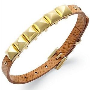 NWT | Michael Kors | Leather Pyramid Bracelet